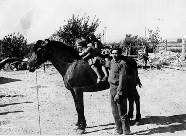 1964 Francisco Subias y Nietos con caballo